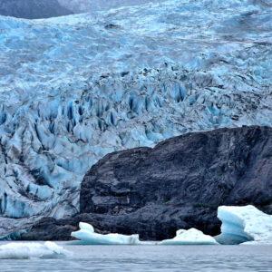 Floating Icebergs at Mendenhall Glacier near Juneau, Alaska - Encircle Photos
