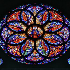 Rose Window inside Metropolitan Cathedral in Fortaleza, Brazil - Encircle Photos