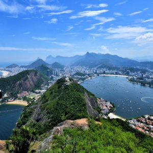 Panoramic View from Sugarloaf Mountain in Rio de Janeiro, Brazil - Encircle Photos