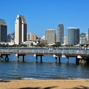 Skyline from Coronado Island of San Diego, California - Encircle Photos