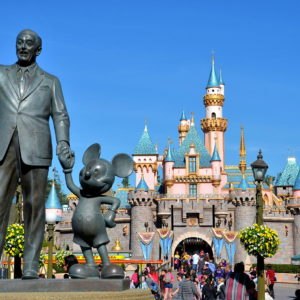 Walt Disney and Mickey Mouse Partners Statue at Disneyland in Anaheim, California - Encircle Photos