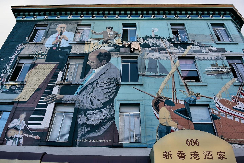 North Beach Jazz Mural By Bill Weber In