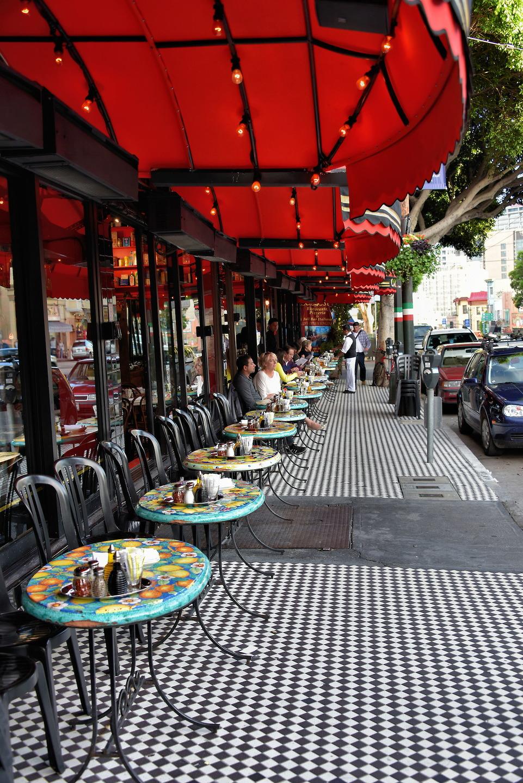 Outdoor Restaurant In North Beach Little Italy San Francisco California Encircle Photos