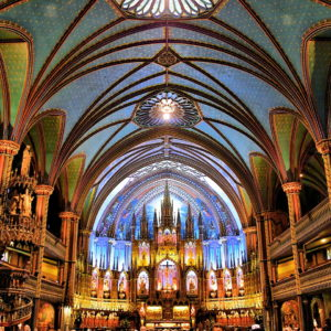 Inside Notre-Dame Basilica at Place d'Armes in Montreal, Canada - Encircle Photos
