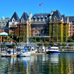 The Empress Hotel and Inner Harbour in Victoria, Canada - Encircle Photos