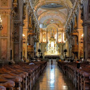 Metropolitan Cathedral's Central Nave in Santiago, Chile - Encircle Photos