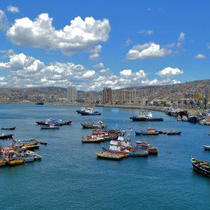 City Surrounding Seaport in Valparaíso, Chile - Encircle Photos