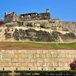 Outer Wall of Castillo San Felipe de Barajas in Cartagena, Colombia - Encircle Photos
