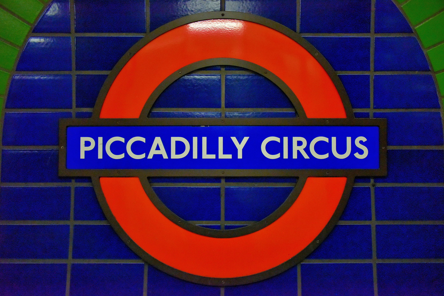 London Undergrounds Piccadilly Circus Station In London England