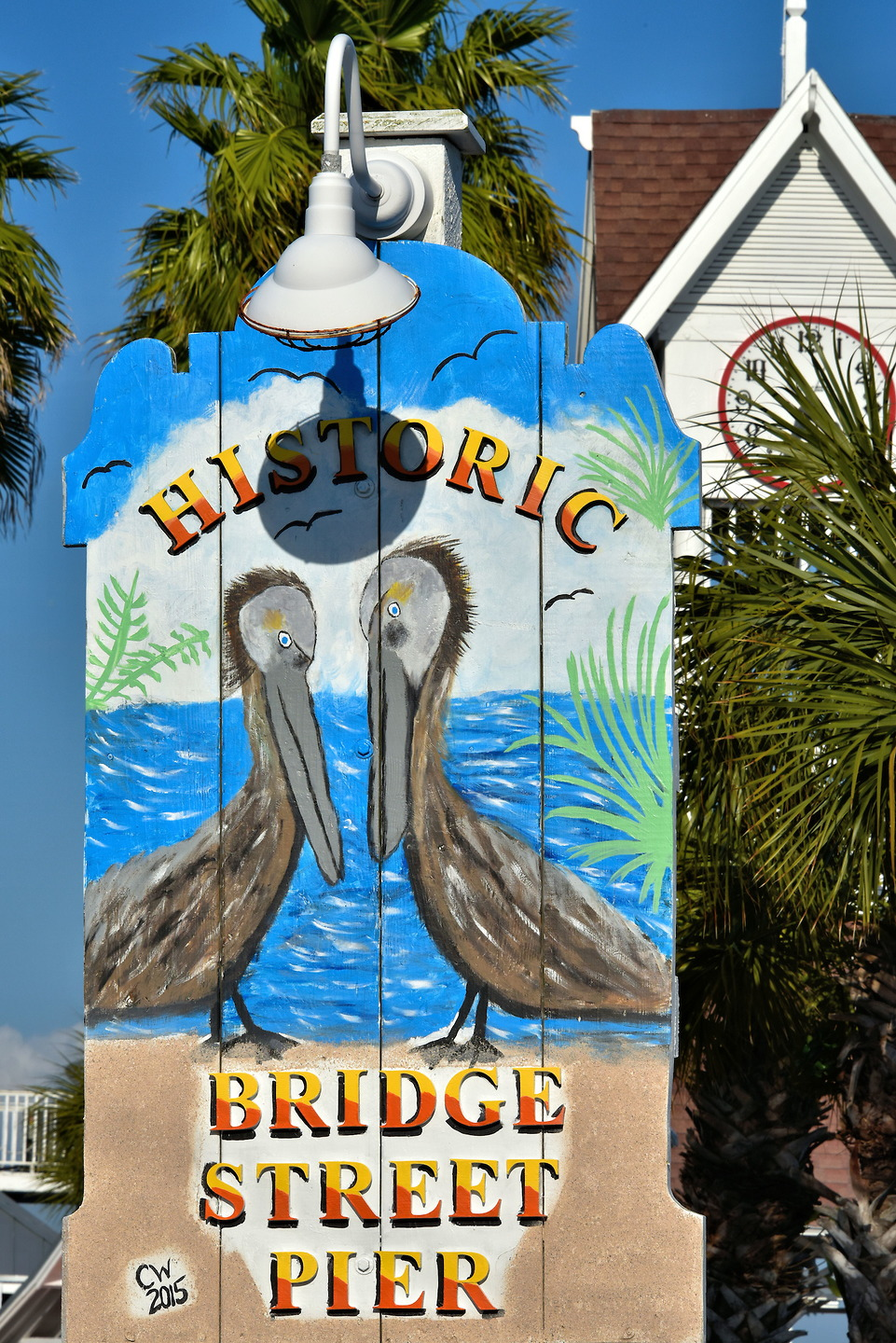 Bridge Street Pier Sign in Bradenton Beach, Florida