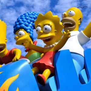 Simpsons Riding Rollercoaster at Universal in Orlando, Florida - Encircle Photos