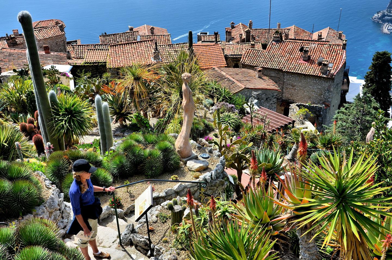 Jardin Exotique Garden Mediterranean View From In Eze France