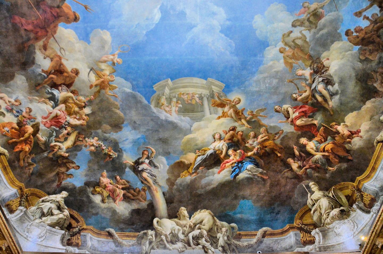 Ch teau de versailles hercules room ceiling in versailles for Architecte des batiments de france versailles