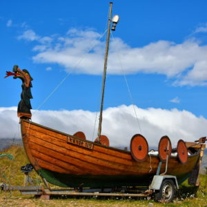 Viking Ship at Arnarstapi on Snæfellsnes Peninsula, Iceland - Encircle Photos