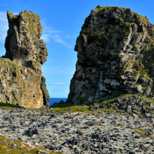 Rock Towers at Lóndrangar on Snæfellsnes Peninsula, Iceland - Encircle Photos