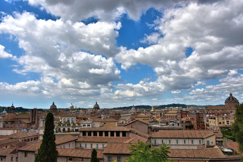 Cityscape From Terrazza Caffarelli At Capitoline Museums In