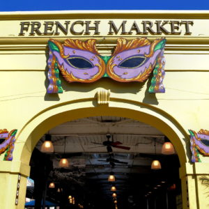 French Market Arch Entry in New Orleans, Louisiana - Encircle Photos