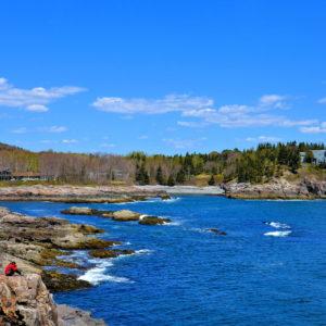 Schooner Head from Overlook in Acadia National Park, Maine - Encircle Photos