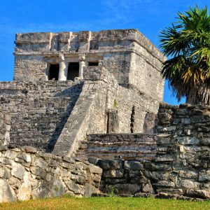 El Castillo Close Up at Mayan Ruins in Tulum, Mexico - Encircle Photos