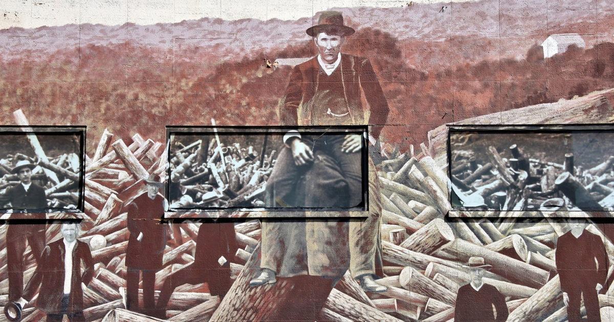 1884 Upper St. Croix River Log Jam Mural in Stillwater ...