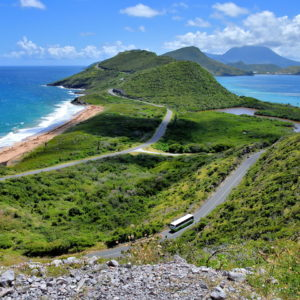 Elevated View of Southeast Peninsula, Saint Kitts - Encircle Photos