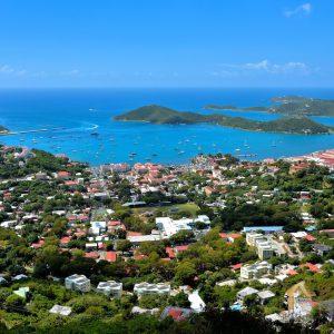 Elevated View of Harbor and Charlotte Amalie, Saint Thomas - Encircle Photos