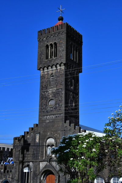 Madonna Tower of Assumption Cathedral in Kingstown, Saint Vincent - Encircle Photos