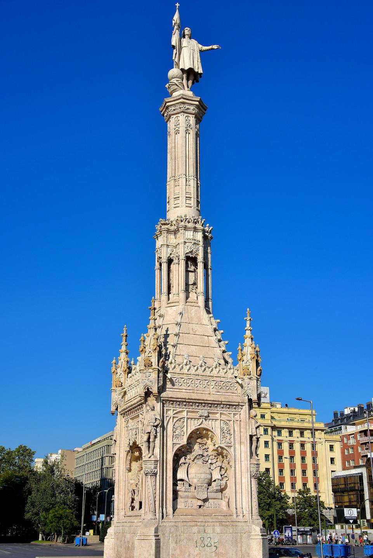 Christopher Columbus Monument In Madrid Spain Encircle