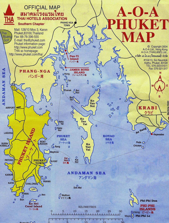 Map Of Phuket Island Tsunami Region In Thailand Encircle Photos