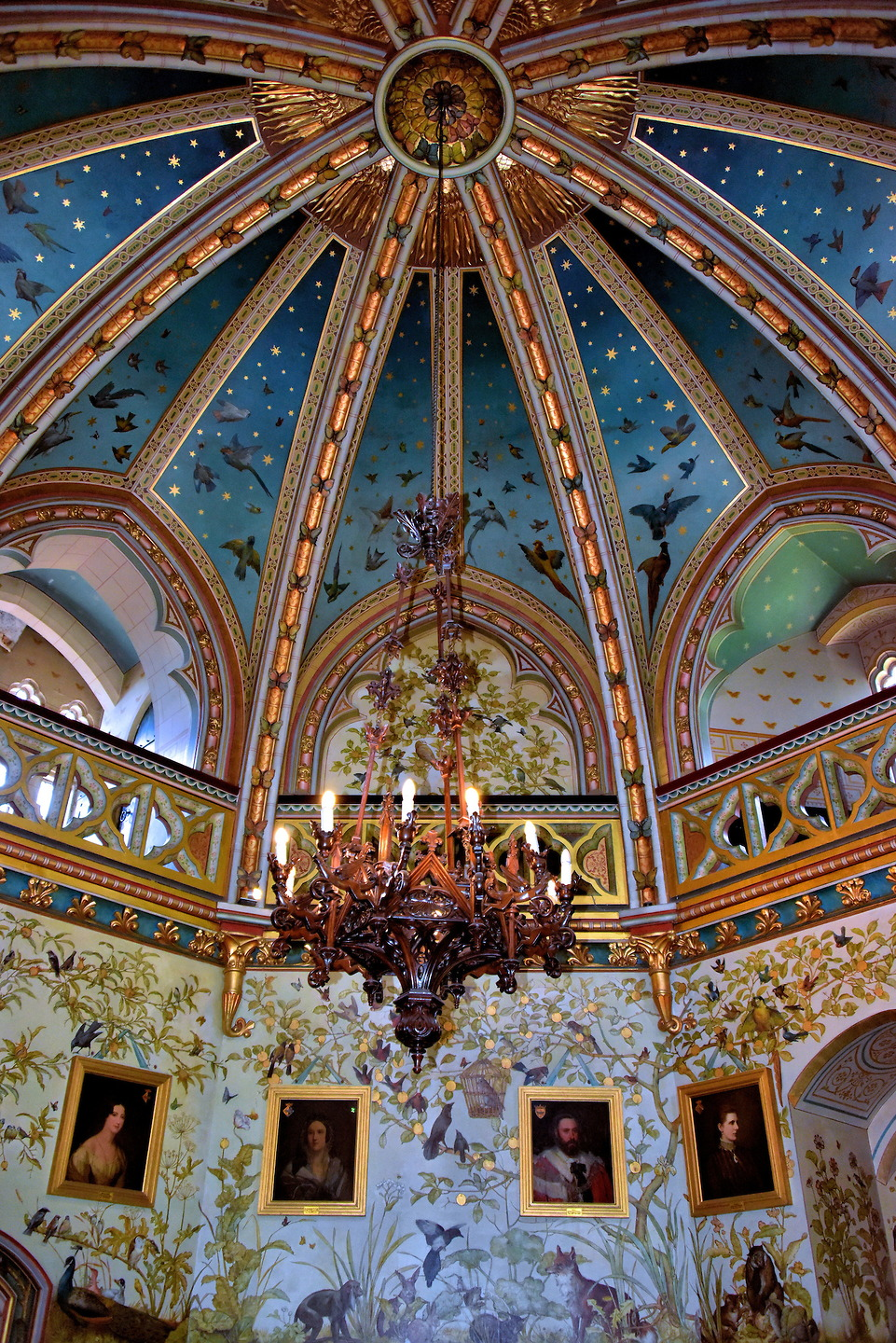 Castle Drawing Room: Vaulted Ceiling Of Drawing Room At Castell Coch In